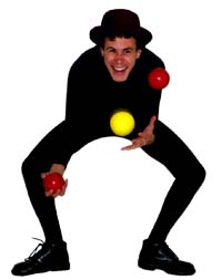 James Jay, the rubber-boned juggler.